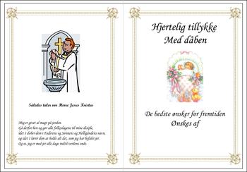 Dåbs Telegram Pige på pude