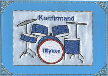 Konfirmand Telegram Dreng Trommer
