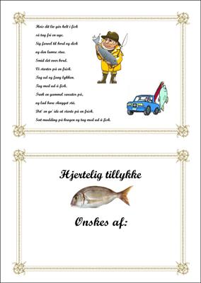 Tillykke telegram Lystfisker i Båd
