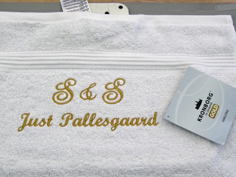Monogram Bryllup Håndklæde