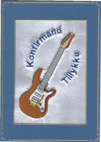 Konfirmand Telegram Dreng guitar El