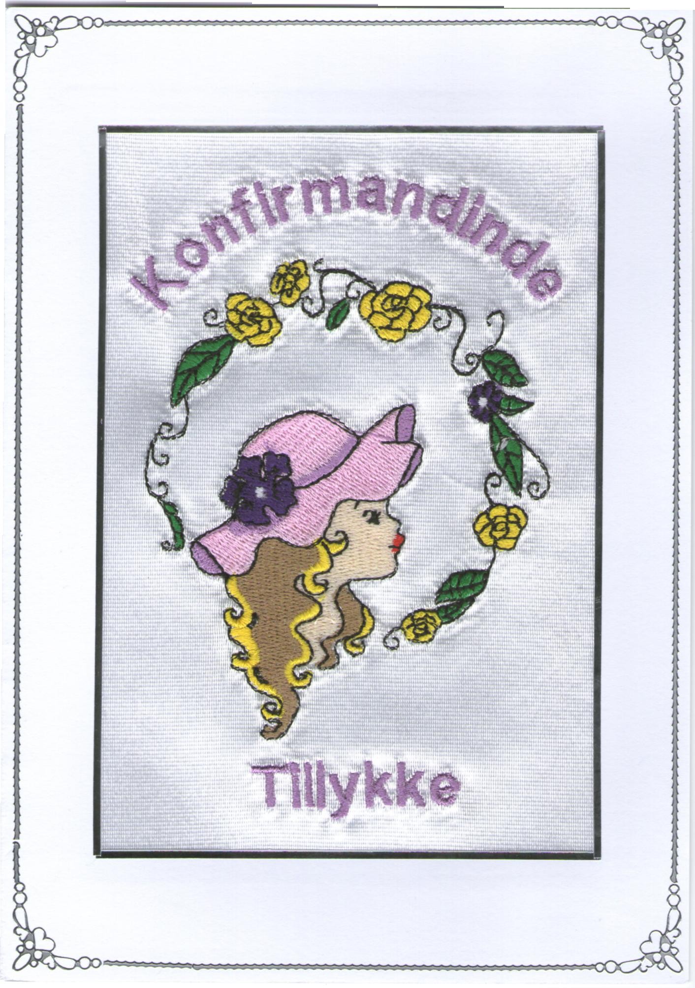 Konfirmand Telegram Pige med hat