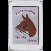 Konfirmand Telegram Pige Brun Hest