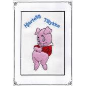 Tillykke telegram m. gris