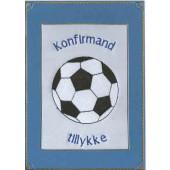 Konfirmand Telegram Dreng Rund fodbold