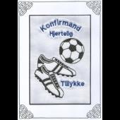 Konfirmand Telegram Dreng fodbold Støvler