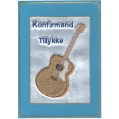 Konfirmand Telegram Dreng Ak. Guitar