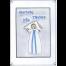 Broderet dåbs telegram